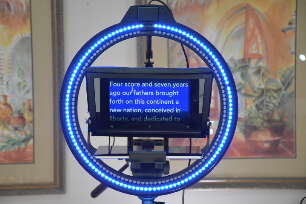 NEW Teleprompter Dual Color Ring with Remote Controller